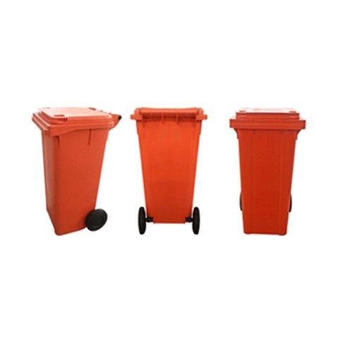 Carrinho Coletor de lixo Plástico sem Pedal 240L - Foto 2