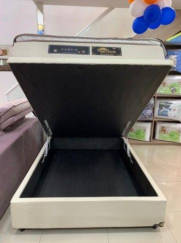 Base Box Bau Casal Interço 138x188x40.Compre Direto da Nossa Fábrica.2764-9592 Patricia. - Foto 3