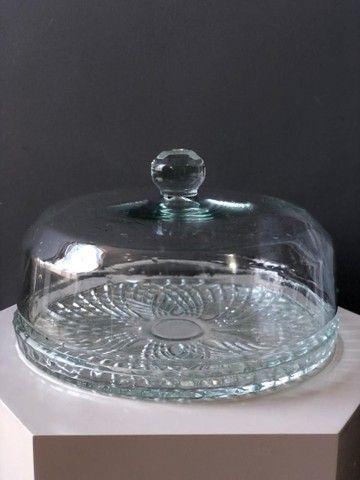 Boleira de vidro com tampa Camicado