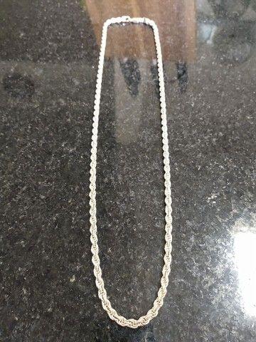 Corrente Masculina 70 Cm Cordão Baiano 54 Gramas - Prata 925 - Foto 2