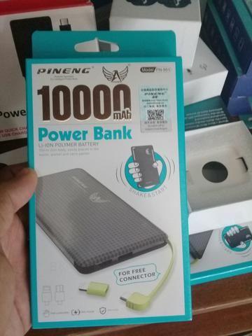 Carregador portátil power bank original pineng 10.000 MAH