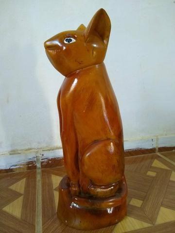Obra de arte em madeira