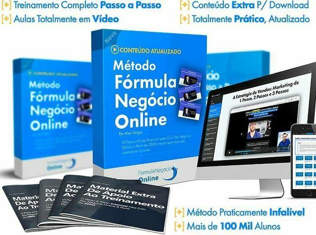 Curso, treinamento formula negócio online
