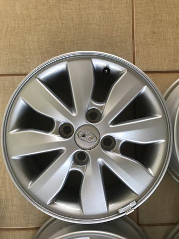 Kit 4 rodas alumínio originais novos hb20 - Foto 4
