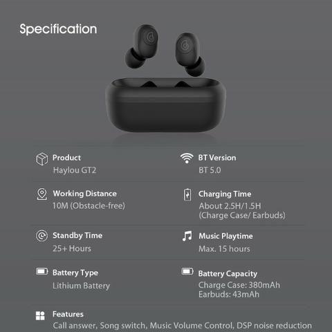 Fone de Ouvido Bluetooth Haylou GT2 - Lançamento - Foto 2