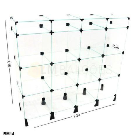 Balcao de vidro com porta bijuterias - 1,20 x 1,10 x 0,30 Promoção