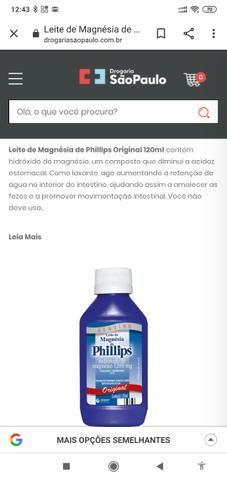Leite de magnésia de Phillips original de 120 ml