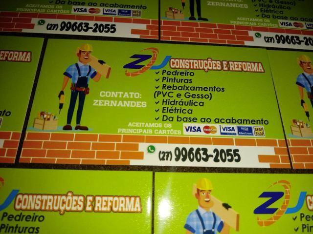 Zj construções e reforma atendimento em toda a região de Vitoria - Foto 2
