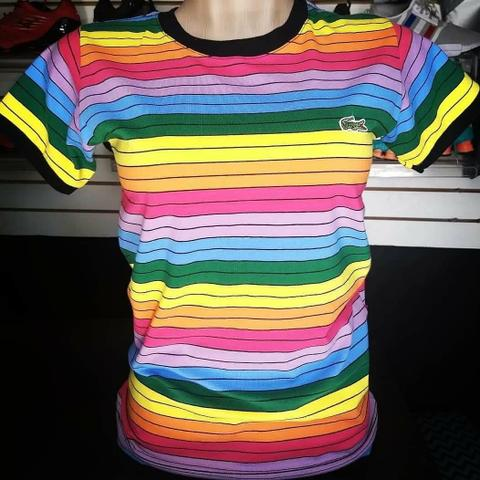 Camisetas Lacoste arco íris feminina 50  promoção - Roupas e ... a820cbe076