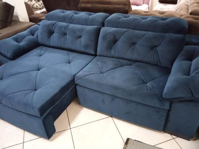Sofá retrátil e reclinável 2,60 - Foto 5