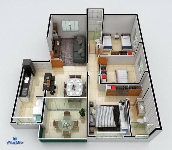 Apartamento em Ipatinga, 3 qts/suite, 2 vgs, 100 m², elev. Aquec. Solar. Valor 395 mil - Foto 4