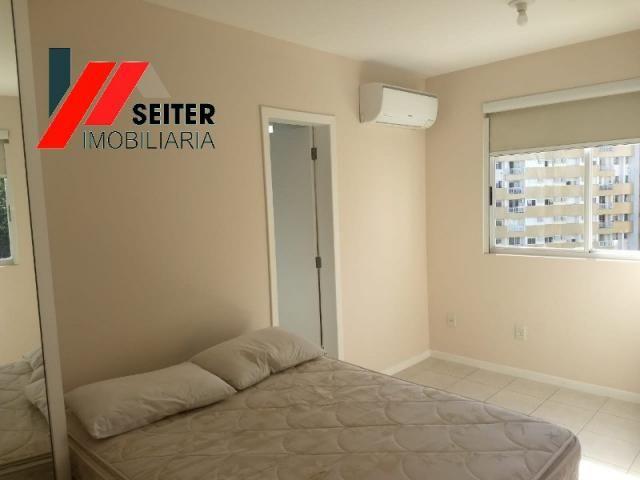 Apartamento mobiliado de 2 dormitorios suite e sacada com churrasqueira no itacorubi - Foto 14