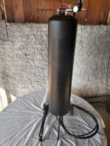 Máquina De Jato Areia Espigão Inox - Seco E Úmido 130 Kg