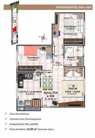 Apartamento à venda com 2 dormitórios em Nossa senhora medianeira, Santa maria cod:0594 - Foto 3