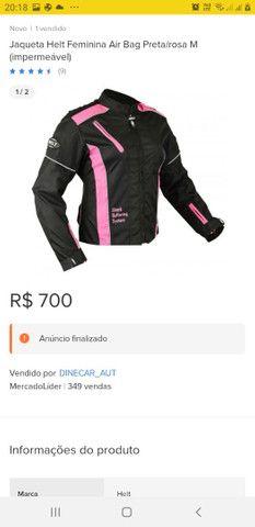 Jaqueta Airbag Com Cilindro Feminina M Preta E Rosa 75210 - Foto 2