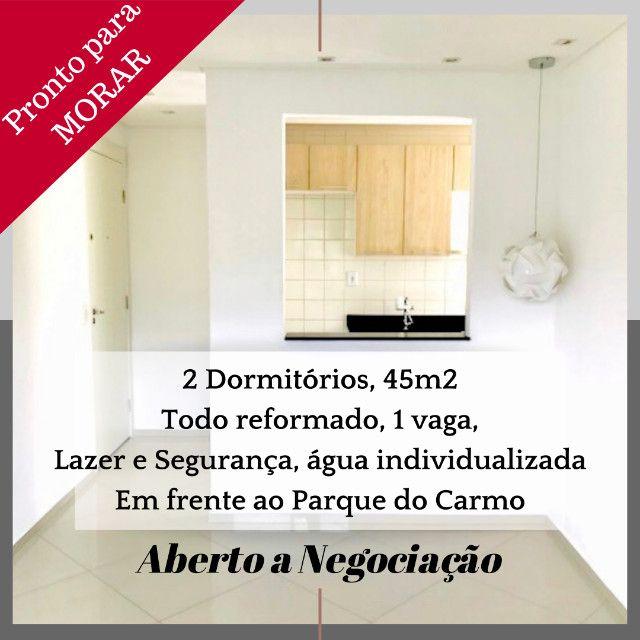 Vendo com tudo Dentro, Apartamento Pq do Carmo, 14o andar, 2 dorm