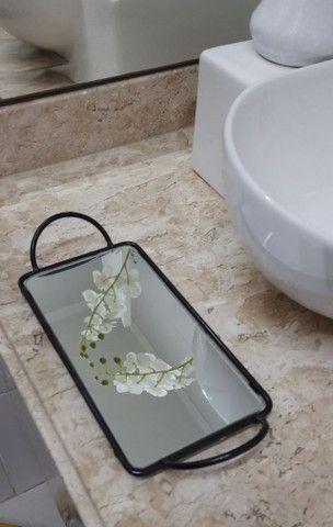 Bandeja Espelhada Para Banheiro Super Luxo  - Foto 4
