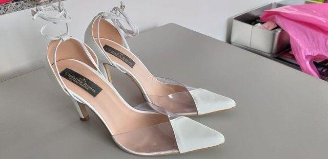 Lote de sapatos femininos 36/37 semi novos  - Foto 6