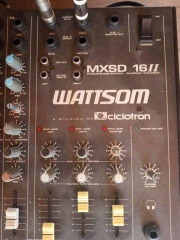 Mesa de som, 16 canais + potência de som 400 WRMS - Foto 4
