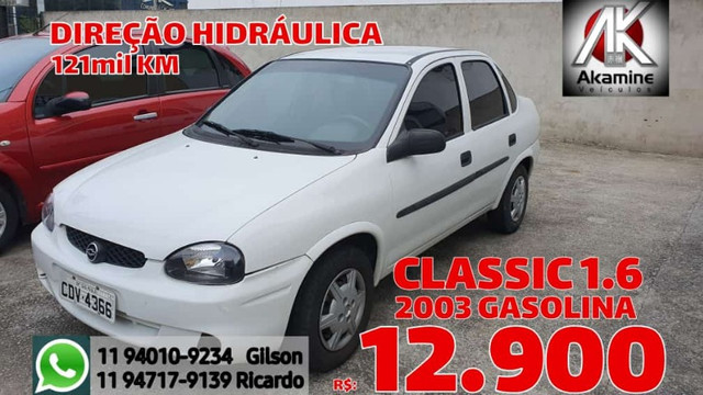 GM - Corsa Sedan 1.6 - 2003 - Direção Hidráulica