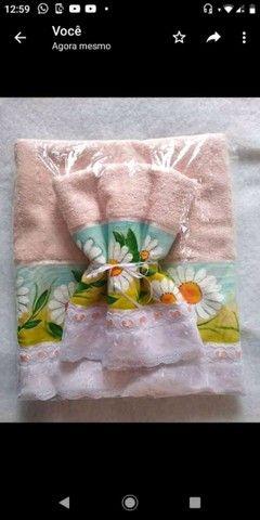 Kit toalha de banho e toalha de rosto  - Foto 3