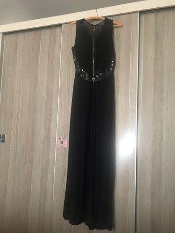 Lindo vestido para festa longo preto - Foto 5