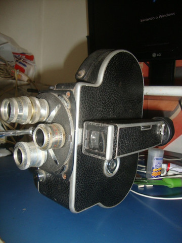 Filmadora 3 lentes rara - Foto 2