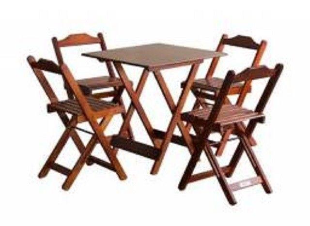 Jogo de Mesa com cadeiras - para Bares ou Restaurantes - Foto 3