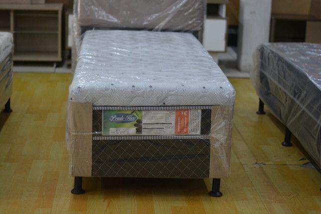 Cama box solteiro com 10 cm espuma - Novo - Foto 4