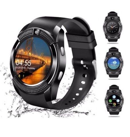 Relógio Style e Tecnologia Smart V8 Preto Funções Celular Smartphone - Foto 4