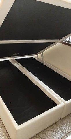 Base Box Bau Queen Size 158x198x40.Compre Direto da Nossa Fabrica.2764-9592 - Foto 2