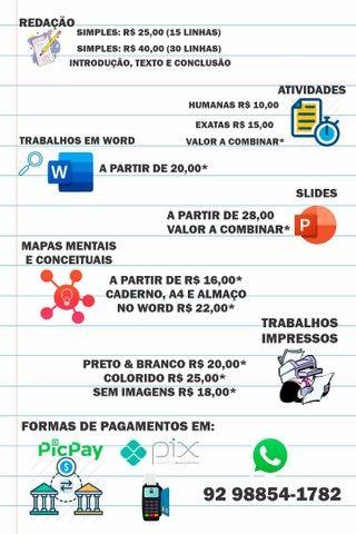 Trabalhos e Atividades Escolares a partir de R$ 10,00
