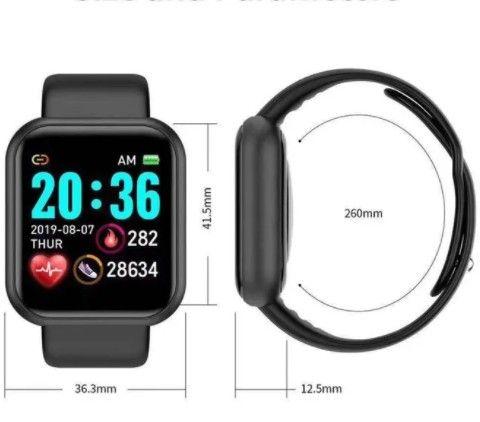 Y68 Relógio Inteligente D20 Bluetooth Digital Homens Esporte - Foto 2