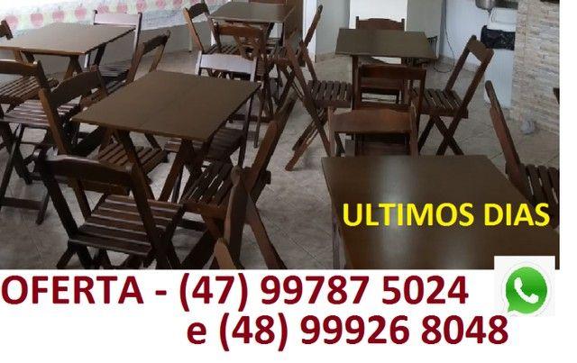 Jogo de Mesa com cadeiras - para Bares ou Restaurantes