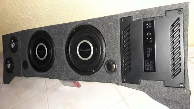 Caixa de som projetada mdf
