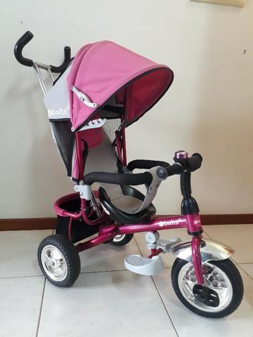Triciclo Importado Premium 3 em 1: Carrinho de passeio, Triciclo e Bicicleta eBaby