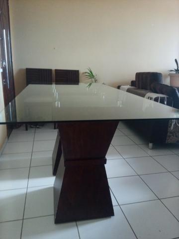 Mesa em madeira. Beleza e sofisticação. Urgente.R$ 600 tel. - Foto 4