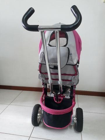 Triciclo Importado Premium 3 em 1: Carrinho de passeio, Triciclo e Bicicleta eBaby - Foto 3