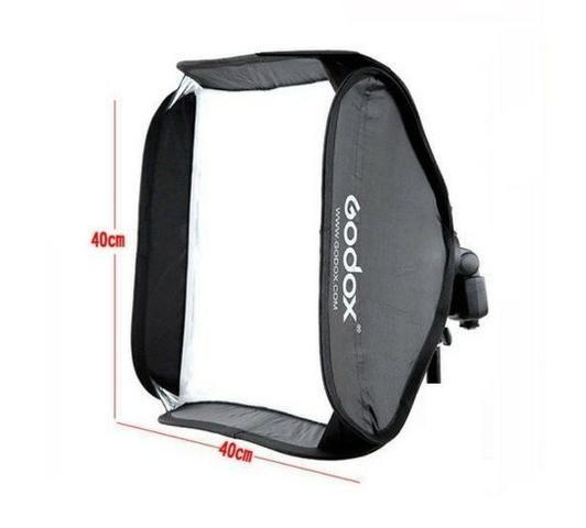 Softbox 40x40cm Godox Para Flash Speedlight Canon, Nikon, Sony e Outros