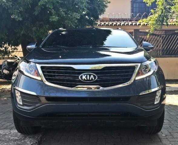 Kia Motors Sportage EX aut, c/ teto solar, Azul 2013/14
