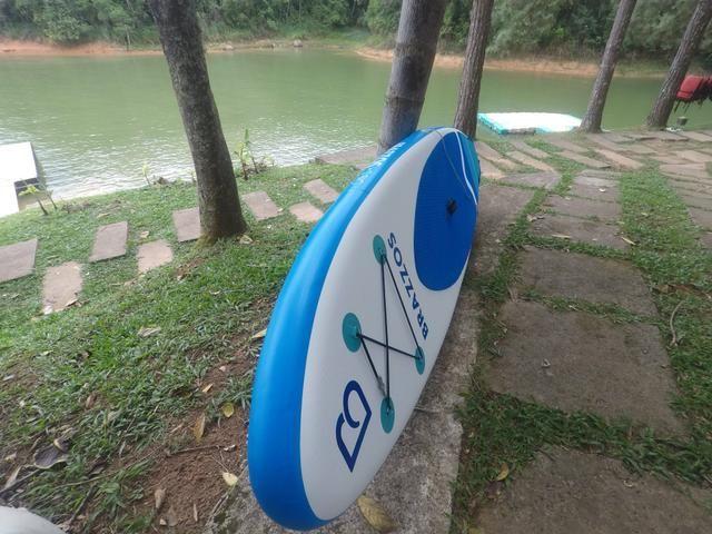 8ec374191 Prancha stand up inflável Brazzos S BIG branco e azul - Esportes e ...