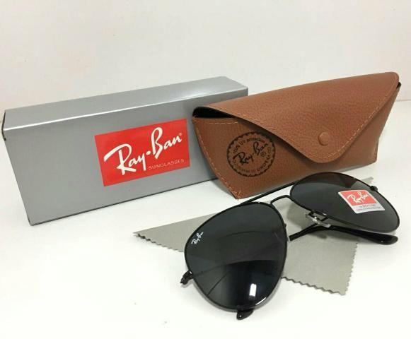 Óculos Ray Ban Aviador Preto - Bijouterias, relógios e acessórios ... 6992b8ab7a