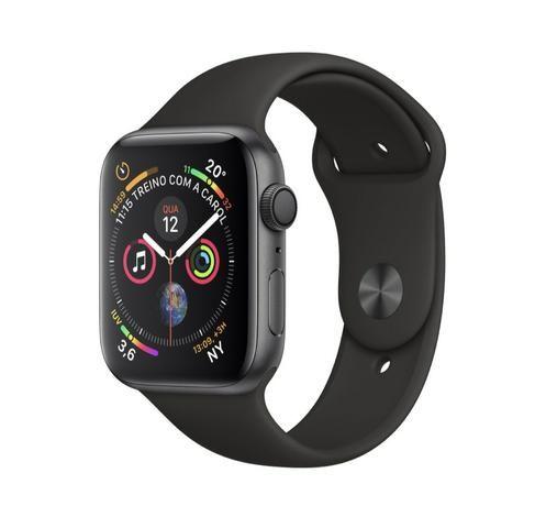 Apple Watch Series 4 GPS, 44 mm, Alumínio Preto, Pulseira Preta