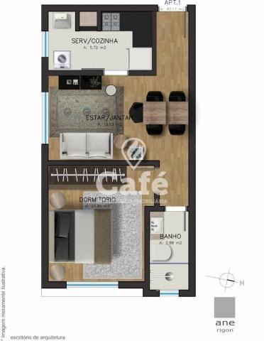 Apartamento à venda com 1 dormitórios em Centro, Santa maria cod:0777 - Foto 3