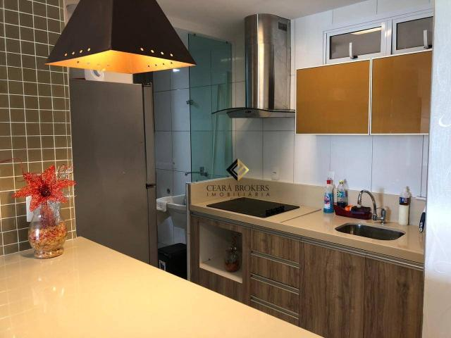 Apartamento com 76m² projetado e mobiliado no Porto das Dunas com 3 quartos sendo 2 suítes - Foto 3