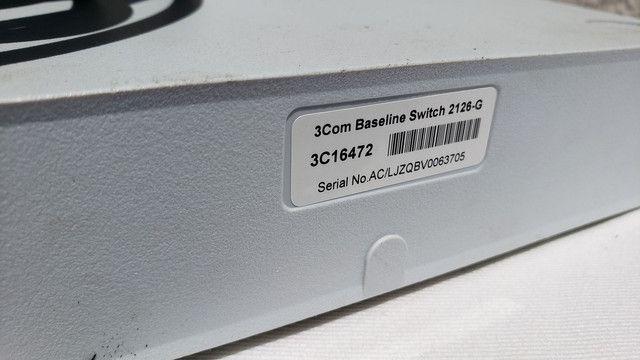 Switch Rede Ethernet 3Com 26 portas 10/100/1000 Mbps - Foto 2