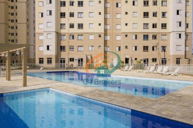 Apartamento com 2 dormitórios para alugar, 45 m² por R$ 1.547,00/mês - Ponte Grande - Guar - Foto 15