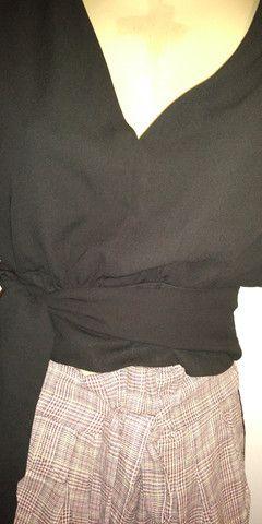 Looks calca em xadres tamanho GG cos alto co elastico na cintira - Foto 5