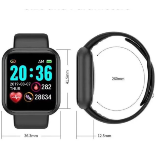 Y68 Relógio Inteligente D20 Bluetooth Digital Homens Esporte - Foto 4