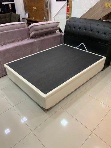 Base Box Bau Casal Interço 138x188x40.Compre Direto da Nossa Fábrica.2764-9592 Patricia. - Foto 4